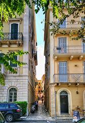 Street in the Venetian quarter of Corfu