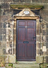 Doorway of lodge to the demolished Wingerworth Hall, Chesterfield, Derbyshire