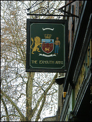 Exmouth Arms pub sign