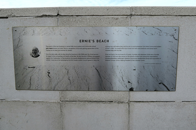 Ernie's Beach Plaque
