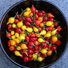 Biquinho red and yellow chillies