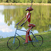Just out for a ride :))    an ANT,  yard art !!