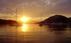 Bocana del puerto de Andratx (Mallorca)