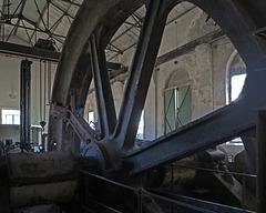 Das Schwungrad im Maschinenhaus der Zeche Ewald Fortsetzung