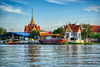 Wat Tha It by the Chao Phraya river opposite Koh Kret near Bangkok, Thailand