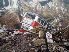 London Blitz Mural (London Bus Museum)