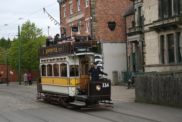 Tram No.114 at Beamish Museum 9th April 2017