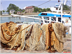 Drying the fishing nets