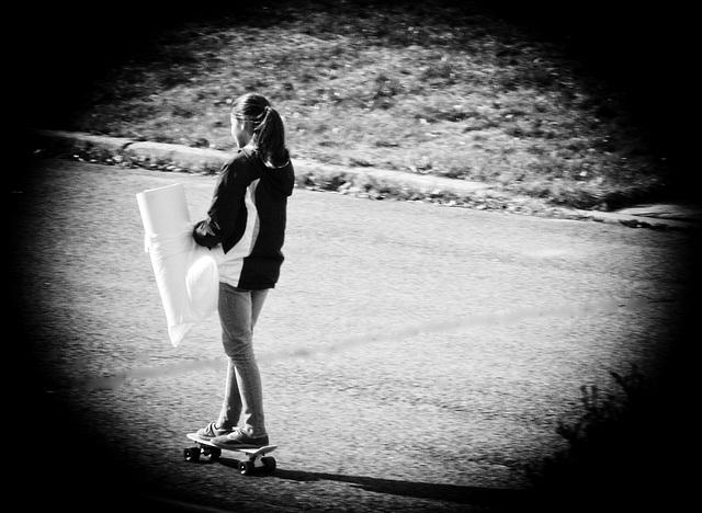 En patins à roulettes c'est plus rapide !