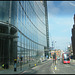 ugly glass-walled street