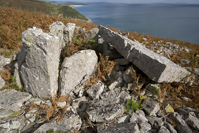 Chambered Cairn at Morfa Bychan, Ragwen Point, Carmarthenshire