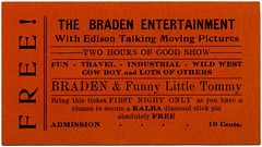 The Braden Entertainment with Edison Talking Moving Pictures, Richland, Pa., ca. 1913