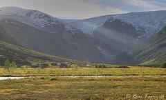 Last sun in Langedalen.