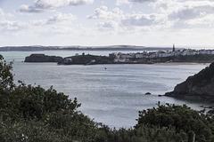 Tenby from coastal path 1