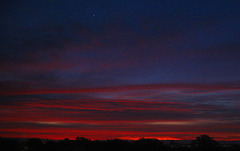 November Sunrise and the Planet Venus""