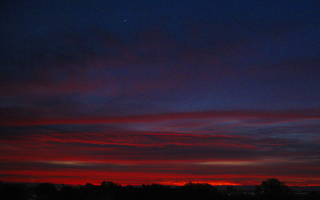 "November Sunrise and the Planet Venus"""