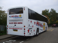 DSCF1982 Mil-Ken Travel MIL 1024 (KX56 OVO, Y1 HMC) at Great Heath School, Mildenhall - 13 Oct 2015
