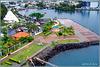 St. Lucia : il terminal crociere nel porto di Castries visto dalla Costa Atlantica