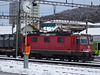 SBB Lok Re 4/4'' 11242, im Bahnhof Solothurn mit Güterwagen der Verbrennungsanlage KEBAG