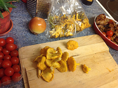 Freshly picked Chanterelles