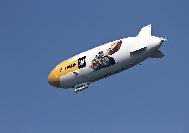 Zeppelinflug über den Bodensee