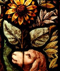 Detail of Christ the Good Shepherd Window (1888), Kniveton Church, Derbyshire