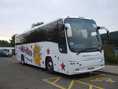 DSCF1981 Mil-Ken Travel MIL 1024 (KX56 OVO, Y1 HMC) at Great Heath School, Mildenhall - 13 Oct 2015