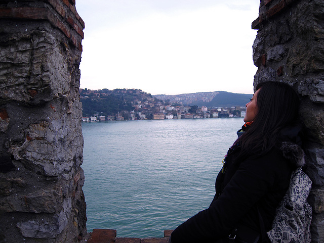 Respirando en la Fortaleza de Rumeli Hisar.