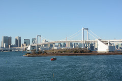 Japan, Rainbow Bridge over Tokyo Bay