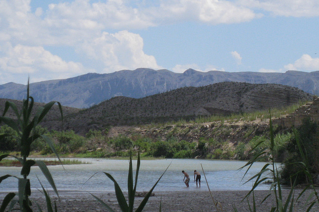 Build a border wall?  (Likely illegals!!!!) Big Bend NP Hot Springs (2625)