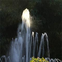 Jet d'eau et lumière