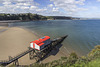 Tenby North Sands with Inshore Rescue Boat station