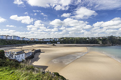Tenby North Sands skyscape from Castle Hill 1
