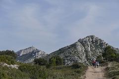 Dans le massif des Opies au dessus d'Aureille (Bouches du Rhône).