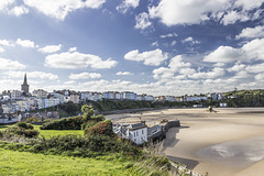 Tenby North Sands skyscape from Castle Hill 2
