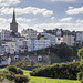 Tenby Church and seafront buildings from Castle Hill