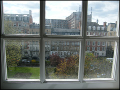 a window on Queen Square