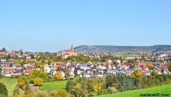 Aussicht auf Rosengarten bei Schwäbisch Hall