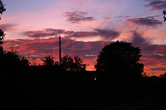 Sunset ,Staxton North Yorkshire 24th October 2018