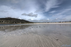 The silver sands and silver skies of Dogs Bay