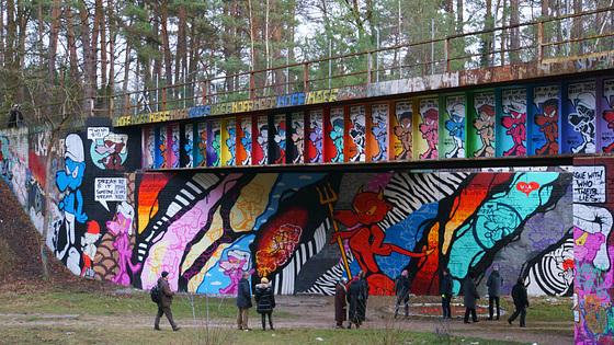 Die Graffiti-Brücke