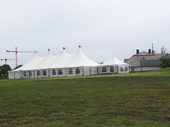 It Was Tents At Fort Calgary Today