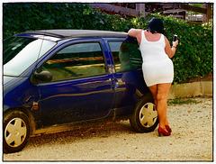 ... das Auto hält das aus ...