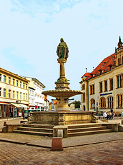 Güstrow, Borwin-Brunnen