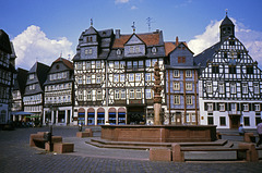 Der Marktplatz in Butzbach (etwa 1994, Diascan)