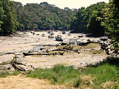 marée basse port de BRIGNEAU (29)