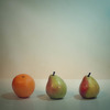 two pears and an orange