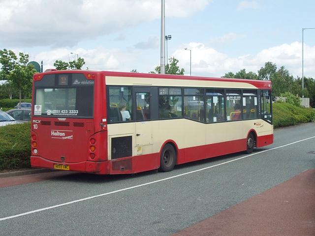 DSCF7706 Halton Borough Transport 10 (AE59 AWC) in Widnes - 15 Jun 2017