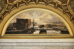Industrial River Mural #2 – London Guaranty & Accident Building Lobby, Chicago, Illinois, United States