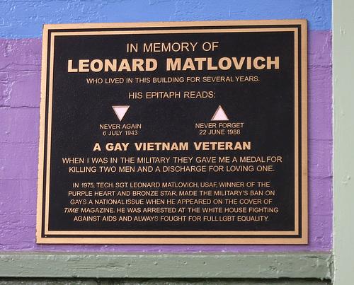 Leonard Matlovich Plaque In The Castro (1376)